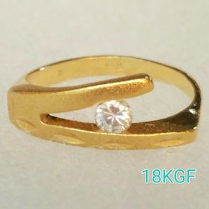 Jewelry - 18K Gold Filled Ring CZ Stone 5.5 new gift jewelry